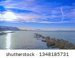 gulf of salerno on the... | Shutterstock . vector #1348185731