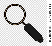 cute magnifying glass in flat...