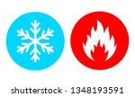 Hot And Cold Vector Icon Set On ...
