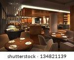 3d Render Of A Restaurant ...