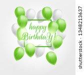 happy birthday greeting card...   Shutterstock .eps vector #1348213637