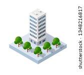 vector isometric urban... | Shutterstock .eps vector #1348216817