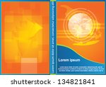 vector orange business cover...