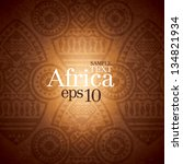african background design... | Shutterstock .eps vector #134821934