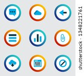 user icons colored set with...