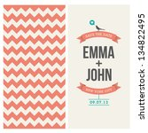 wedding invitation card... | Shutterstock .eps vector #134822495