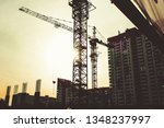 building site with high rise... | Shutterstock . vector #1348237997
