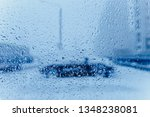traffic abstract in winter.... | Shutterstock . vector #1348238081