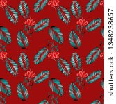 watercolor seamless pattern...   Shutterstock . vector #1348238657