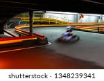 riding in kart indoors at high... | Shutterstock . vector #1348239341