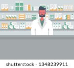web banner of a pharmacist.... | Shutterstock .eps vector #1348239911