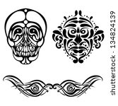set of black tattoo | Shutterstock .eps vector #134824139