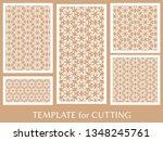 decorative panels set for laser ... | Shutterstock .eps vector #1348245761
