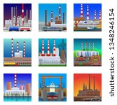 factories and plants icons in... | Shutterstock .eps vector #1348246154