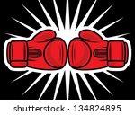 boxing gloves strike   Shutterstock .eps vector #134824895