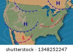 weather forecast.... | Shutterstock .eps vector #1348252247