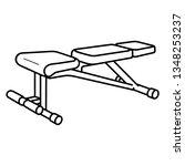 adjustable exercise bench.... | Shutterstock .eps vector #1348253237
