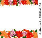 hand drawing card with place... | Shutterstock .eps vector #1348262114