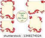 hungarian folk photo frame vol1.   Shutterstock .eps vector #1348274024