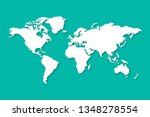 world map with shadow in flat... | Shutterstock .eps vector #1348278554