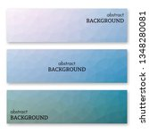 set of three blue banners in... | Shutterstock .eps vector #1348280081