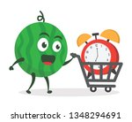 kawaii vector illustration... | Shutterstock .eps vector #1348294691