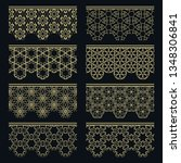 set of golden seamless borders  ... | Shutterstock .eps vector #1348306841