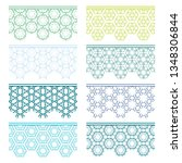 set of colorful seamless... | Shutterstock .eps vector #1348306844