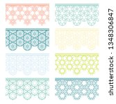 set of colorful seamless... | Shutterstock .eps vector #1348306847