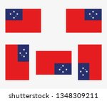 illustrated country flag... | Shutterstock . vector #1348309211