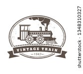 vintage locomotive trains icons ... | Shutterstock .eps vector #1348310327