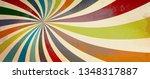 retro starburst or sunburst... | Shutterstock . vector #1348317887