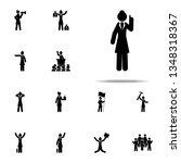 businesswoman  explain icon.... | Shutterstock . vector #1348318367