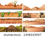 set of dry land illustration | Shutterstock .eps vector #1348333907