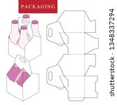 packaging for  can bottle. | Shutterstock .eps vector #1348337294
