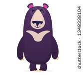 happy cartoon bear. vector... | Shutterstock .eps vector #1348338104