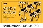 modern coworking center with... | Shutterstock .eps vector #1348340711