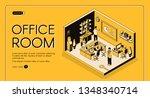 business workplace organization ... | Shutterstock .eps vector #1348340714