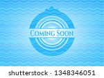 coming soon water badge... | Shutterstock .eps vector #1348346051