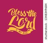 handlettering typography bless... | Shutterstock .eps vector #1348349684