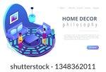 feng shui consultant rearranges ...   Shutterstock .eps vector #1348362011