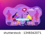 happy couple in love on... | Shutterstock .eps vector #1348362071