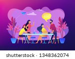 group of friends sitting at the ... | Shutterstock .eps vector #1348362074