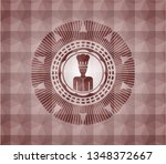 chef icon inside red emblem or...   Shutterstock .eps vector #1348372667