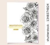 romantic wedding invitation... | Shutterstock .eps vector #1348374824