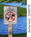 warning sign in andrew haydon... | Shutterstock . vector #13483759