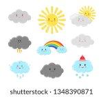 cartoon clouds characters....   Shutterstock .eps vector #1348390871