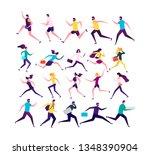 Running People. Jogging...