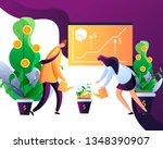 money growth. concept of money...   Shutterstock .eps vector #1348390907
