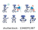 robot assistant. cartoon robot... | Shutterstock .eps vector #1348391387